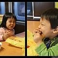 小孩吃到麥當勞的 high 樣...