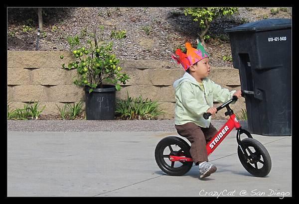 戴皇冠騎腳踏車好神氣!