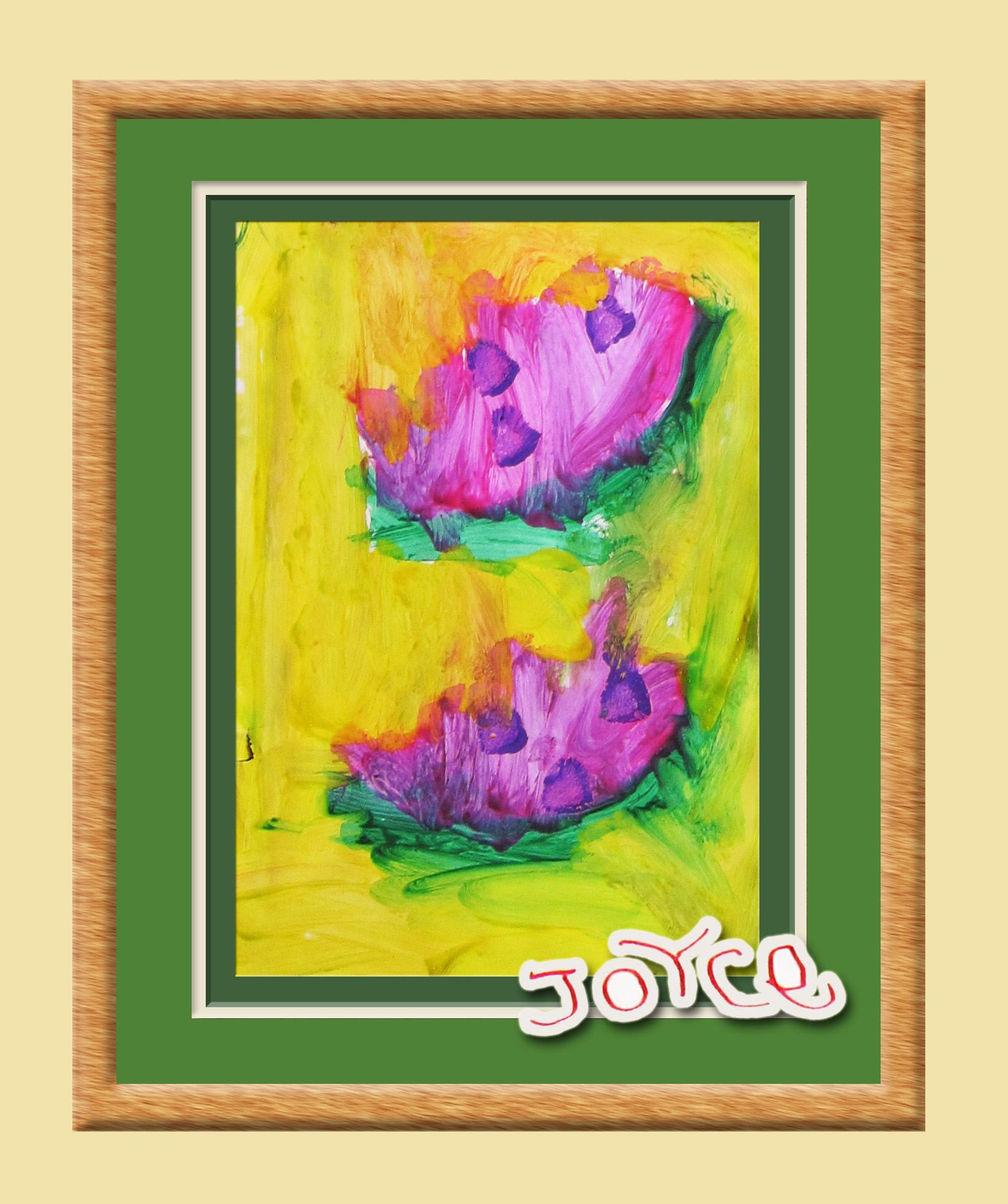 陳小牛在學校的水彩大作:西瓜
