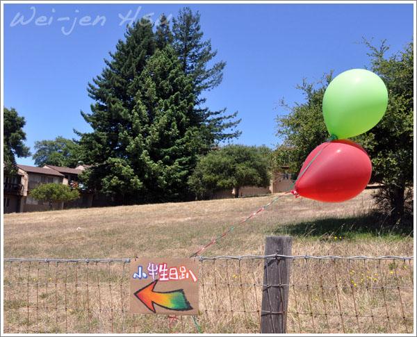 紅配綠的氣球