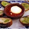 大蒜麵包加蕃茄及山羊起司