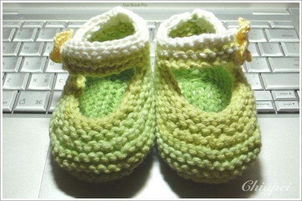 小毛線鞋正面照