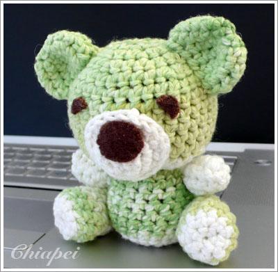 鉤針小熊 (iii) -- 成品正面
