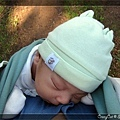 在揹巾裡睡得香甜的Q寶 :D
