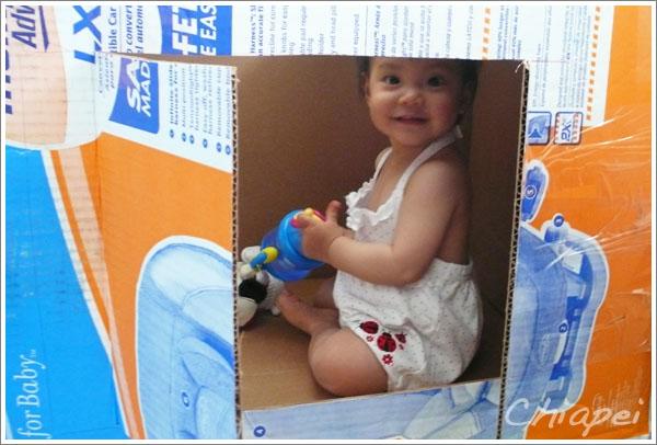 5/29 媽媽用紙箱做的玩具屋