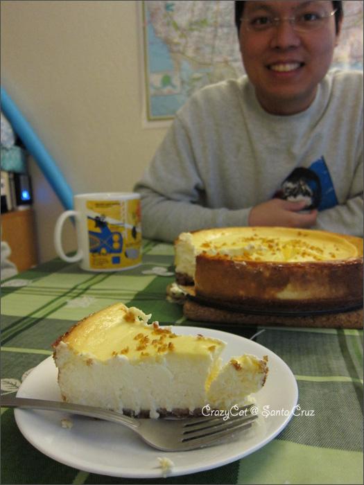 1/2 這個厚度的起士蛋糕看起來很有成就感