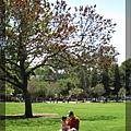 4/17 父女倆在草地上玩