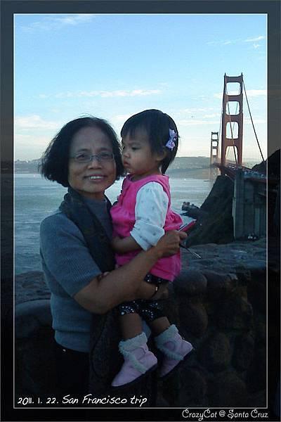 乖寶奶奶與金門大橋