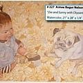 這位畫家的風格很有趣,好像都以寶寶為主題