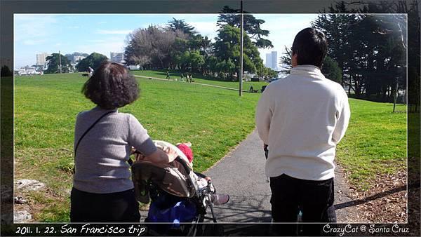不過這個公園也很大很讚(舊金山市那麼擁擠竟然還有那麼多公園,很了不起!)