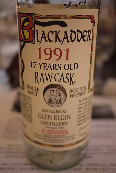 Glen Elgin 1991 17yo