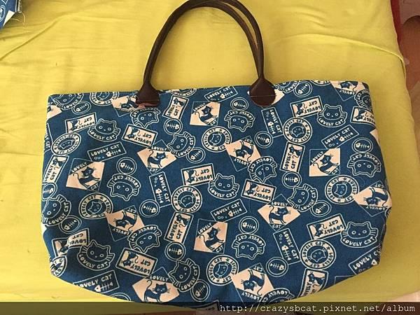 藍貓瑜珈袋