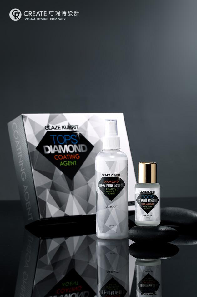 可瑞特設計協助裕登洋實業生產之鑽石鍍膜包裝設計,禮盒包裝設計