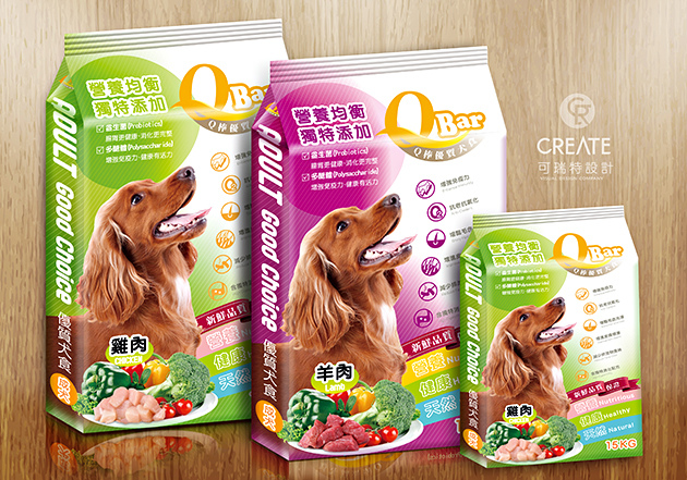 Q-bar寵物食品包裝設計