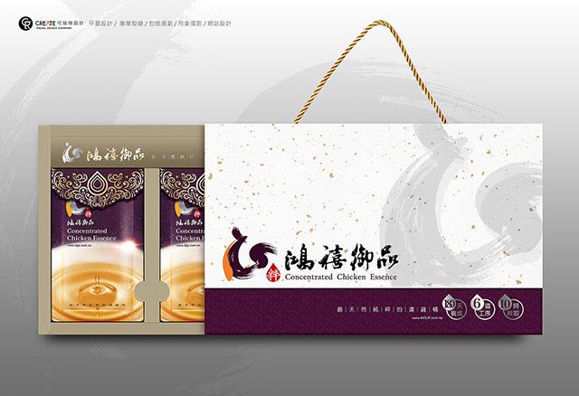 鴻禧御品_滴雞精禮盒包裝設計