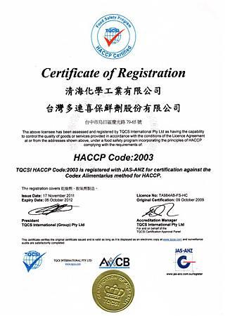 HACCP 安全品質保證系統
