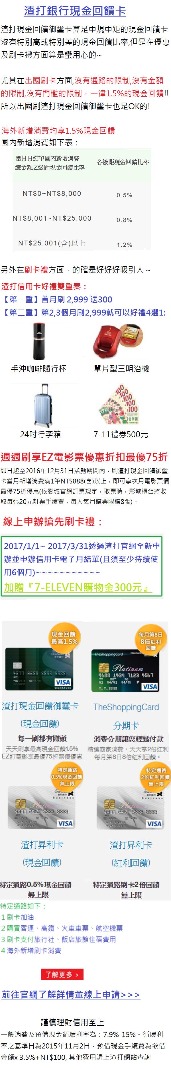 渣打現金回饋卡20170331.png