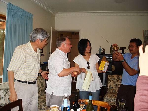 20090202晚餐in犯罪學大師John Braithwaite家中