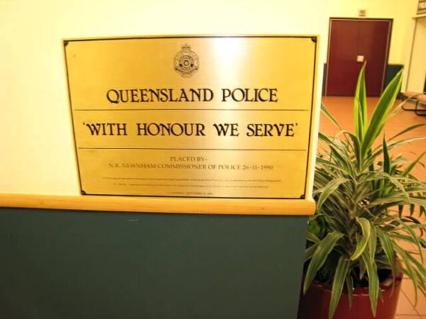 20090204拜訪昆士蘭警察局(櫥窗陳列物品)