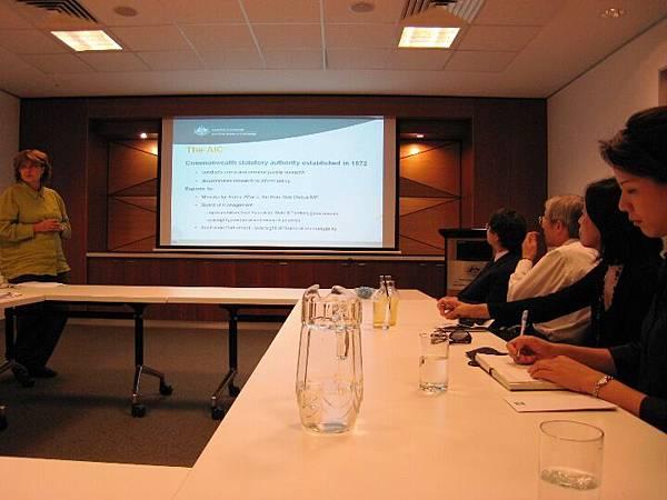 20090205拜訪澳洲政府犯罪研究中心AIC(Astralian Institute of Criminology)