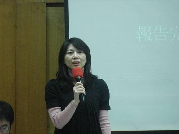 黃晴惠學姐進行發表