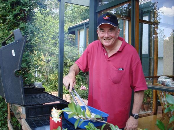 20090206 John Braithwaite帶領大家到Peter Grabosky家中BBQ