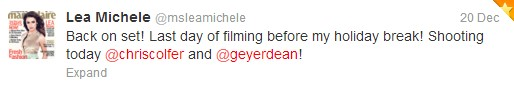 (2012.12.20.) twitter - Lea- chris - 2011 last shoot