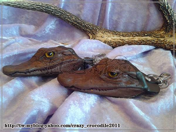 【品名】小鱷魚頭鑰匙圈