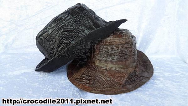 【品名】外銷日本拼接鱷魚皮漁夫帽