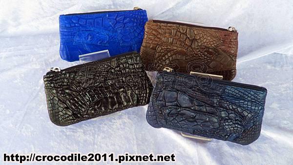 【品名】外銷日本拼接鱷魚皮零錢包