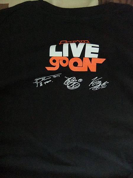 POTATO演唱會紀念T-shirt
