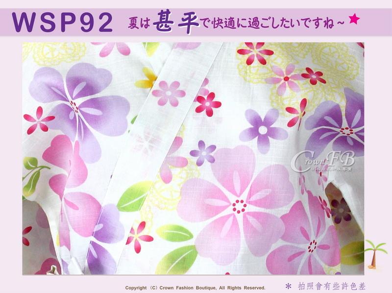 【WSP92】日本女生甚平白色底櫻花~上衣短褲M~L Free Size-2.jpg