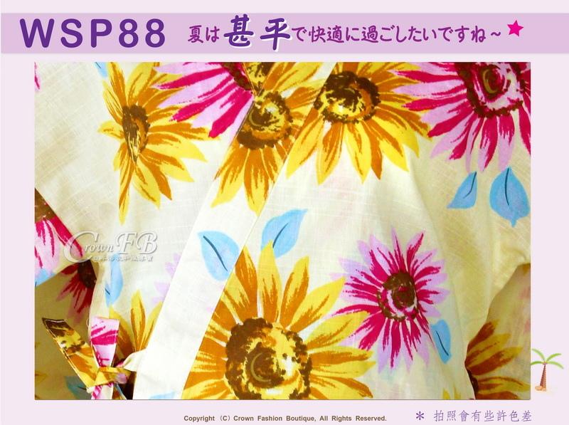 【WSP88】日本女生甚平黃色底向日葵~上衣短褲M~L Free Size-2.jpg