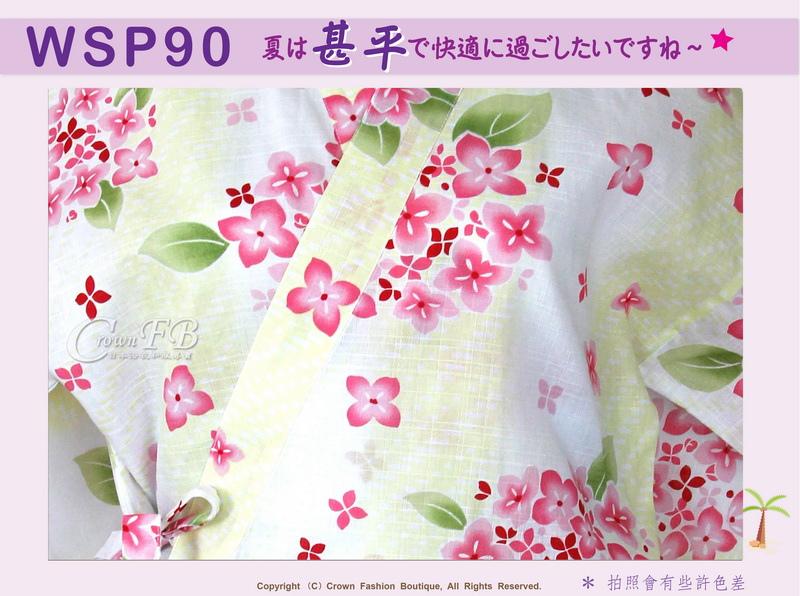 【WSP90】日本女生甚平黃色底櫻花~上衣短褲M~L Free Size-2.jpg