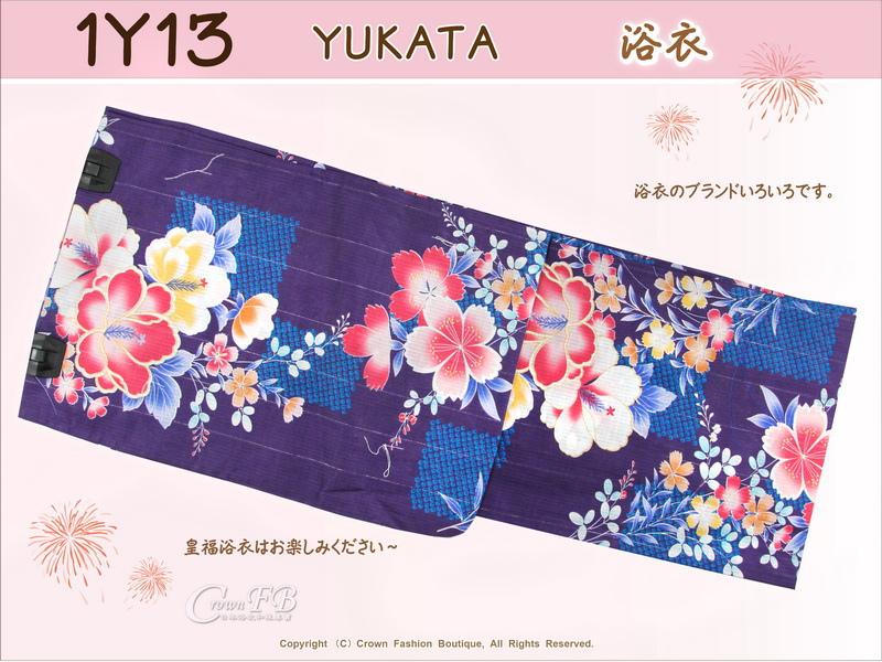【番號1Y-13】日本浴衣Yukata~紫色底花卉-1.jpg