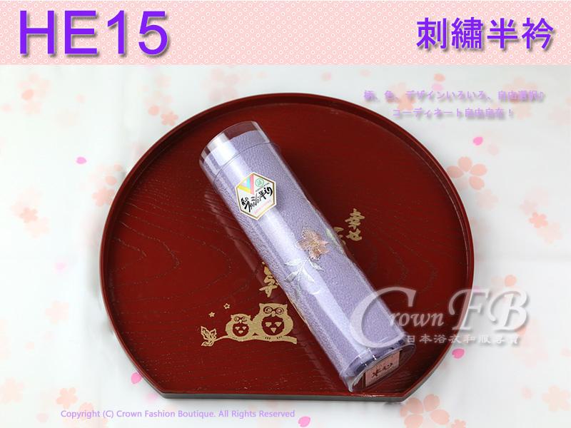 日本和服配件-【HE15】淡紫色粉橘花卉刺繡半衿1.jpg