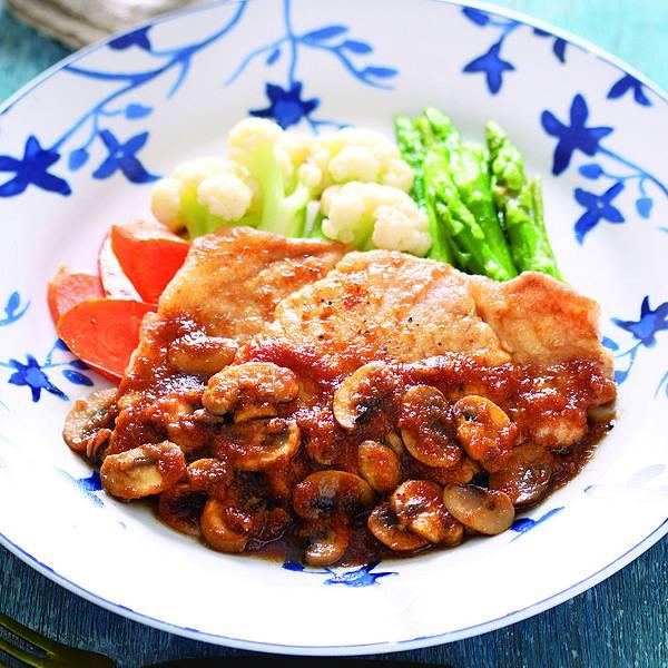 豬排佐和風洋蔥紅酒醬