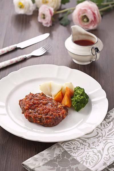 義式茄醬煎牛排 (1)