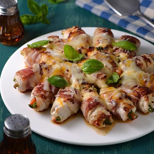 香煎雞肉蔬菜捲