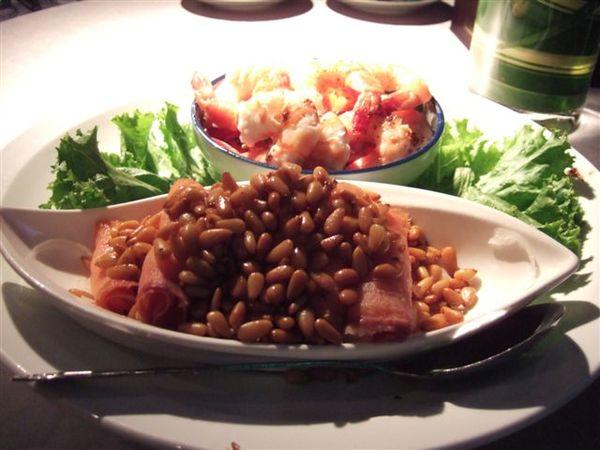 和風明蝦加燻鮭魚.JPG