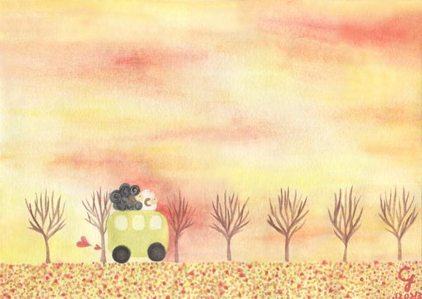 sunset_a@克里斯多插畫森林