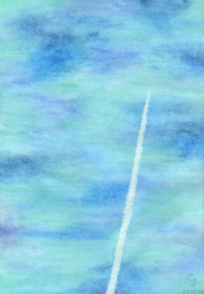 airplane_cloud@克里斯多插畫森林