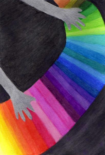 彩虹鋼琴@克里斯多插畫森林