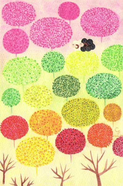 four_seasons@克里斯多插畫森林