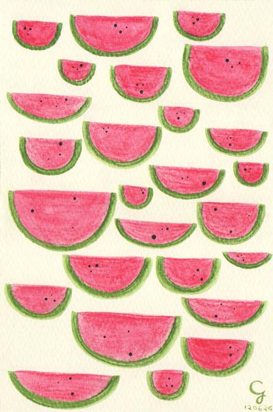 watermelons@克里斯多插畫森林