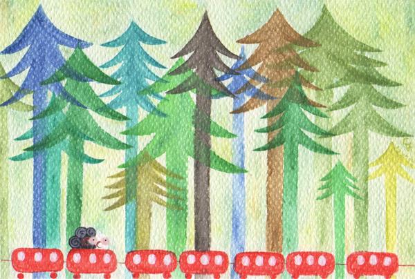 forest@克里斯多插畫森林