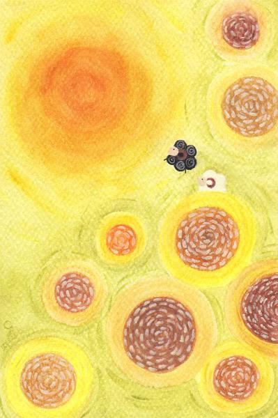 sunflower@克里斯多插畫森林