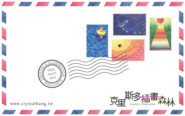 stickers_of_stamp_b@克里斯多插畫森林