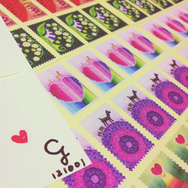 stickers_of_stamp_p@克里斯多插畫森林