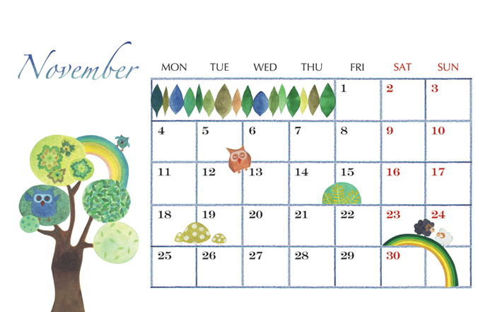 2013_calendar_bb@克里斯多插畫森林
